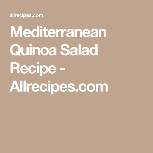 Mediterranean Quinoa Salad Recipe - Allrecipes.com
