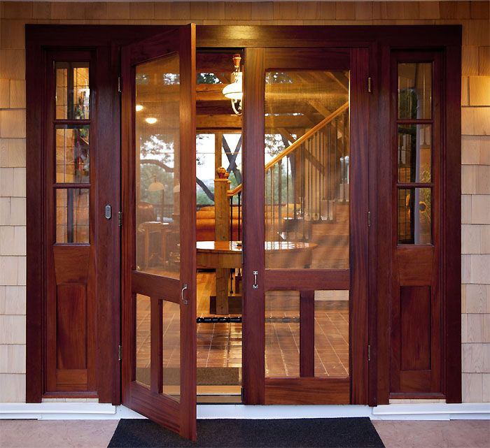 Double Old Fashion screen & storm door. Browse more Traditional door deisgns which can be made into double doors like this one.