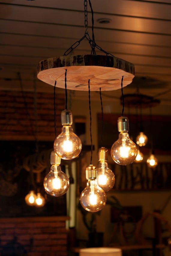 Reclaimed Farmhouse Lighting Fixture Chandelier Rustic Pendant