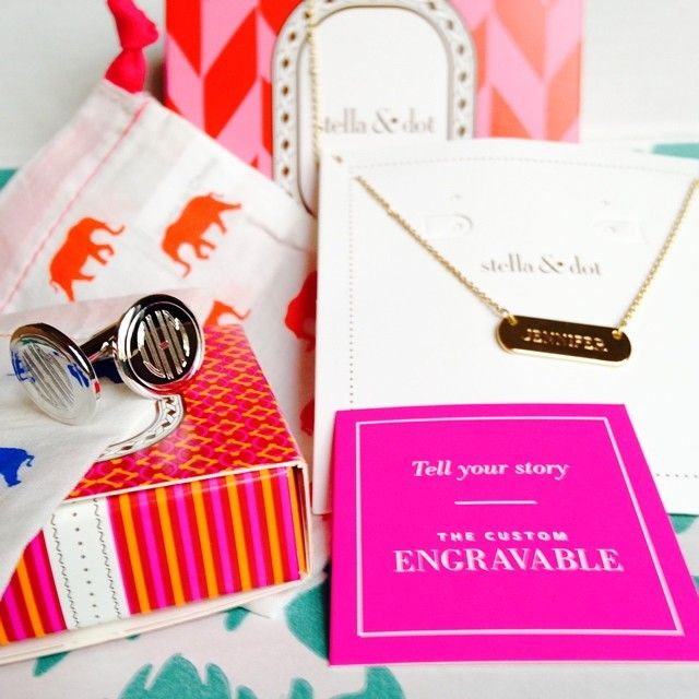 How cute are the little elephant pouches that our engravables come in? Photo taken by Jennifer Sutton | Stella  Dot