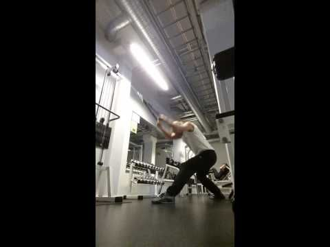 Lat pulley front 20 reps 2 sets after major Lat ex