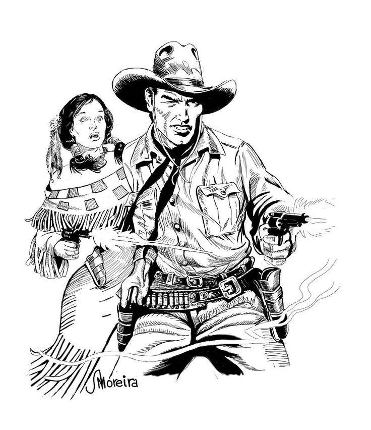 Tex & Lilyth na arte de AMoreira