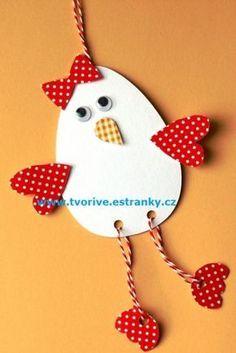 Stránky pro tvořivé - malé i velké - Fotoalbum - Jaro a Velikonoce - Kuřátko - nohaté vajíčko s mašličkou - P1420933