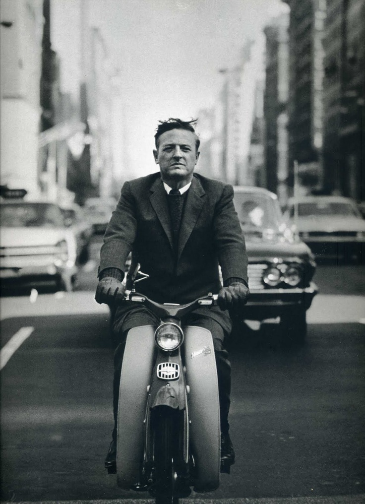 The Ivy League Look: Wm. F. Buckley, Jr., 1967 - without a helmet, because, why?