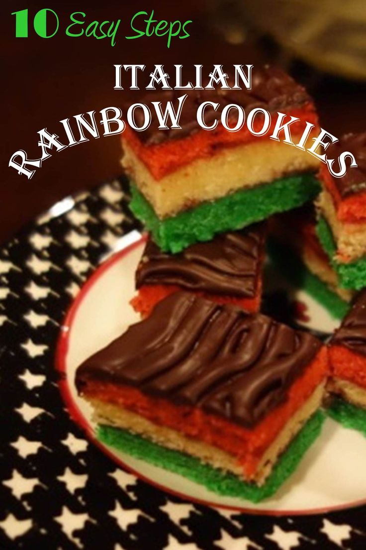 The Italian Rainbow Cookies makes a great holiday cookie that will brighten up any Christmas cookie tray.  It not only looks festive, it tastes delicious. Here are 10 easy steps for a delicious rainbow cookie.
