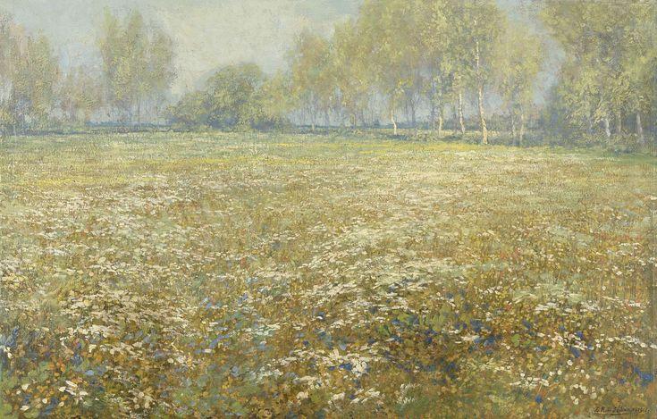Bloeiende weide, Egbert Schaap, 1912
