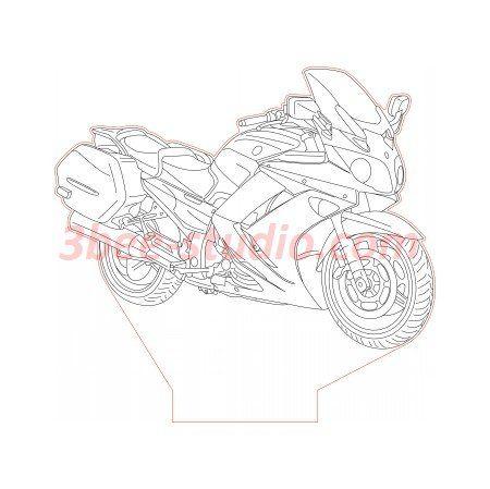 Yamaha FJR 1300 bike 3d illusion lamp plan vector file