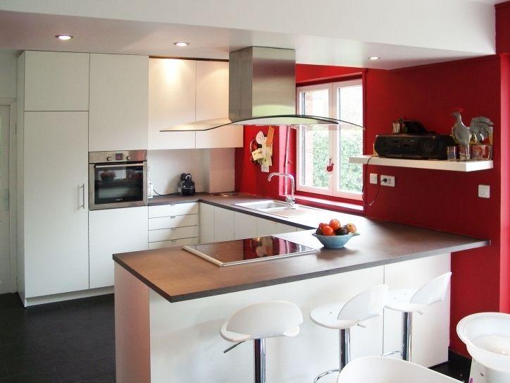 New post Meilleur Brillant Et aussi Belle Cuisine Meuble Blanc Plan - cuisine blanc laque plan travail bois