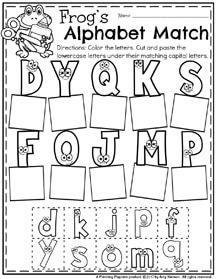 Letter Recognition Worksheets - Upper and Lowercase letter matching.