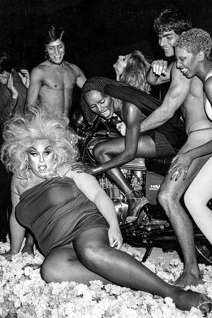 Crazy Pictures of Grace Jones Celebrates Her 30th Birthday with the Likes of Divine, Andy Warhol, Elton John, Julie Budd and Jerry Hall in 1978