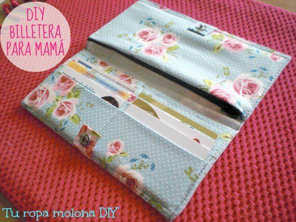 Cómo hacer una cartera billetera de tela para el Día de la Madre
