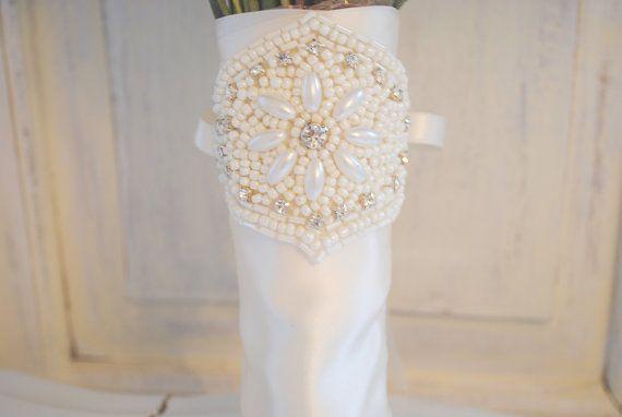 Beaded Bouquet Wrap Bouquet Wrap Wedding by AshleighMalangoneNY, $48.00