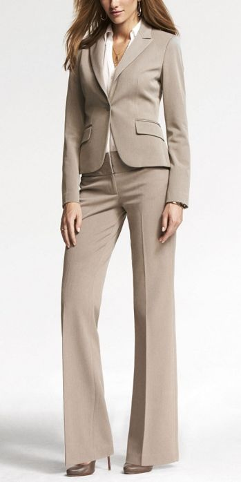 Not many people wear khaki suits for interviews, but it can be another option for business casual dress code at work.