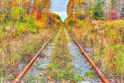 These rusty tracks inspired the title for this image: Railroad to Nowhere.