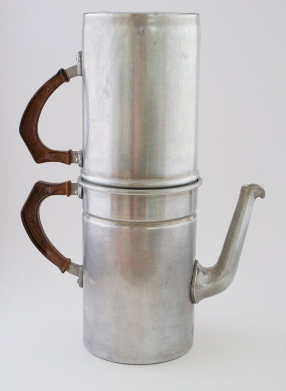 Vintage Coffee Pot Rex 5 Cup Aluminum Italy Shops, Vintage and Coffee maker