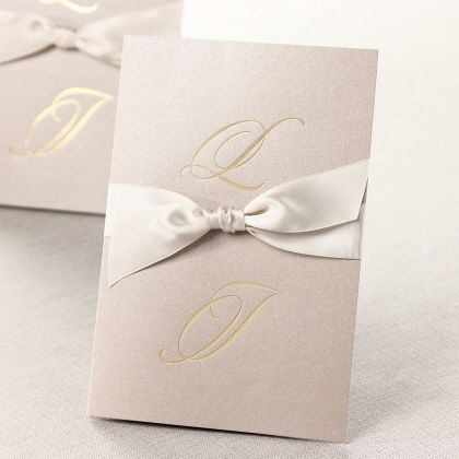 Simple & Classy Initials II by B Wedding Invitations