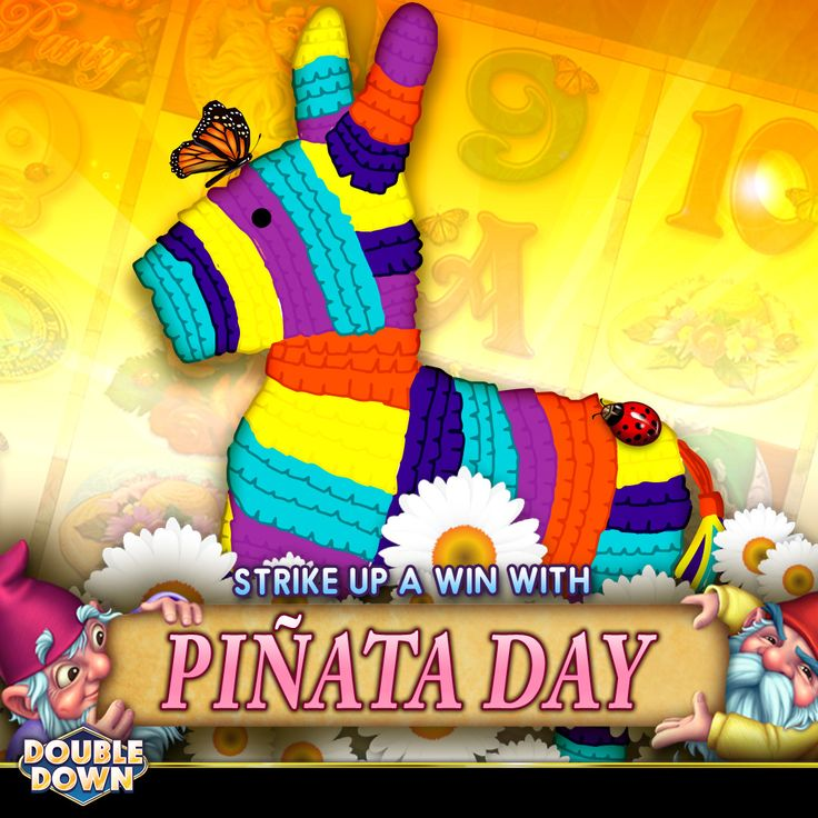 Strike up some fun... it's Piñata Day! Take a swing and get some sweet treats (200,000 FREE chips!) when you tap the Pinned Link, or use code DNMMHX