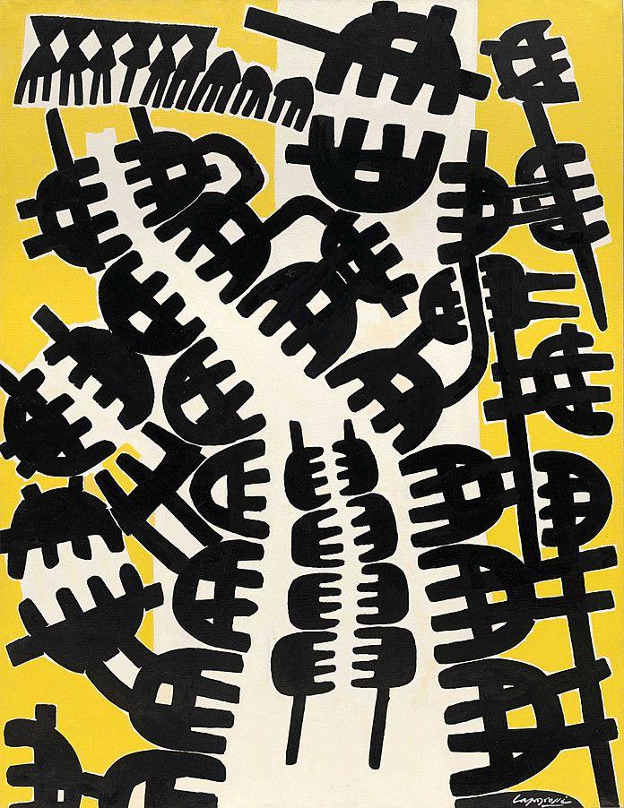 Giuseppe Capogrossi | Surface 210 (Superficie 210) | 1957 | Guggenheim Museum