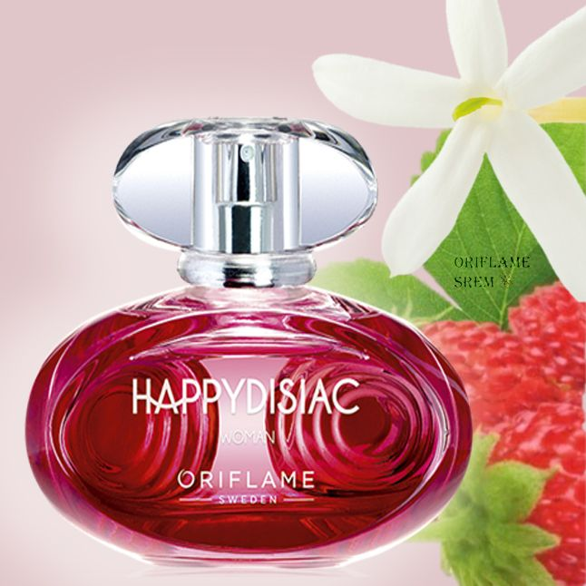 31630-Happydisiac toaletna voda Pustite da vas obuzme euforija. Bogatstvo cvetnih i voćnih mirisnih nota pomoći će vam u tome. Srce mirisa obavija divlja jagoda, elegantno isprepletana delikatnim notama egipatskog jasmina.