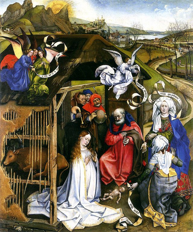 Master of Flémalle or Robert Campin (1375-1444) The Nativity