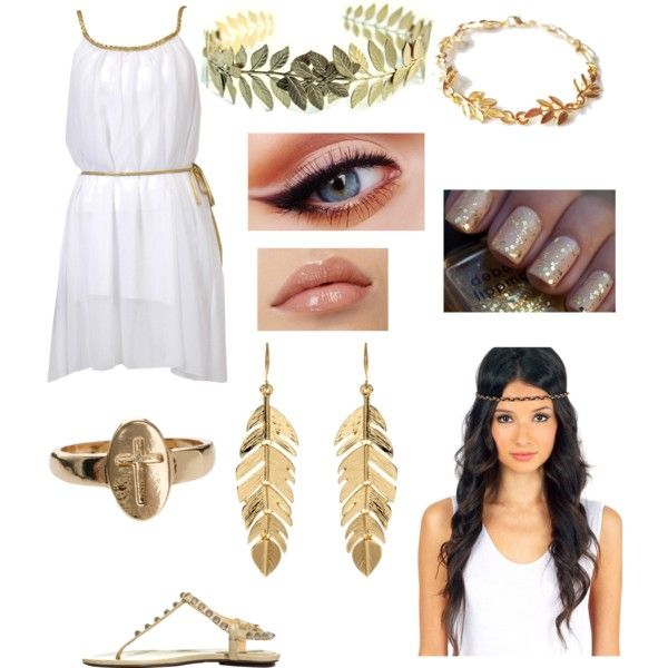 Greek goddess (Halloween party with Harry) by milinda-guerra on Polyvore featuring Balenciaga, Amrita Singh and ASOS
