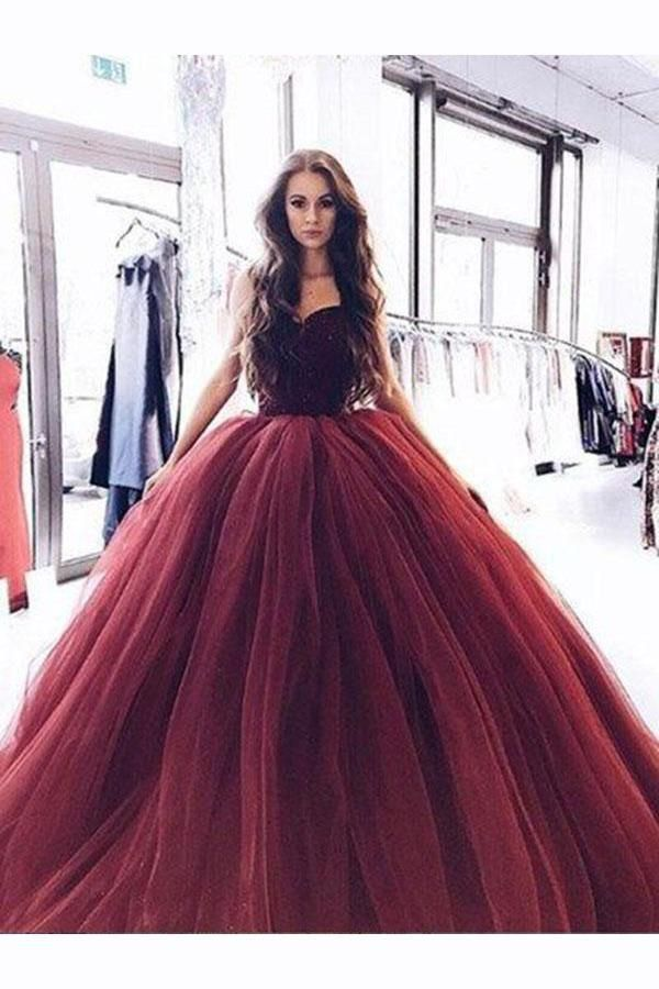 Cheap Luxurious Burgundy Prom Dresses 781249dbb3be