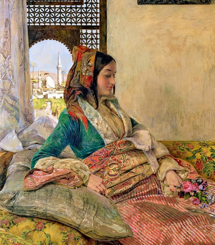 Details from : Life in the Harem, Cairo 1858 By John Frederick Lewis