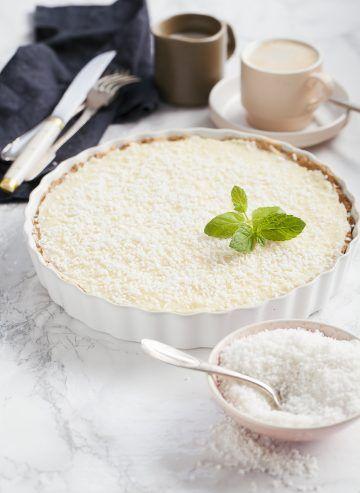 Tarta kokosowo-czekoladowa #tarta #kokos #tart #coconut #chocolate #desert #cake