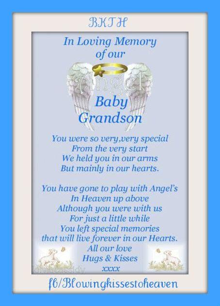in loving memory of my grandson