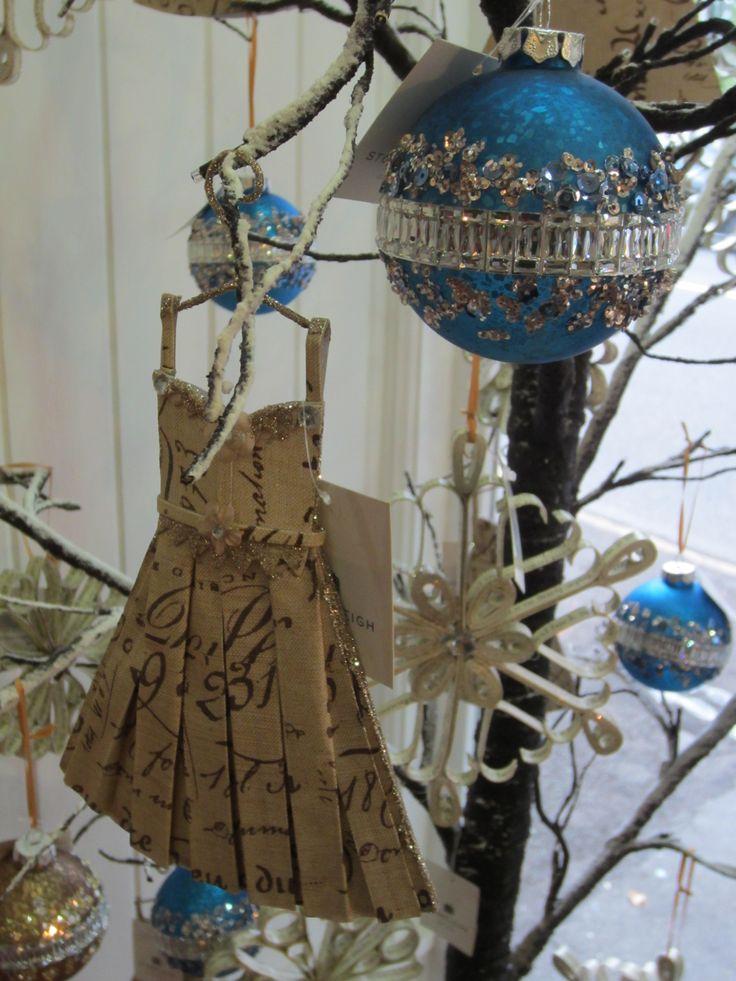 Paper scrolls and dresses