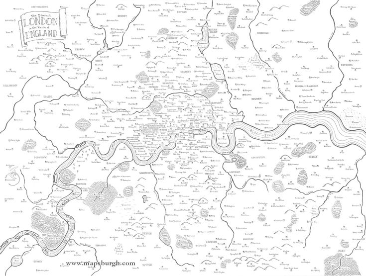 Fantasy map of London (10.00 USD) by Mapsburgh