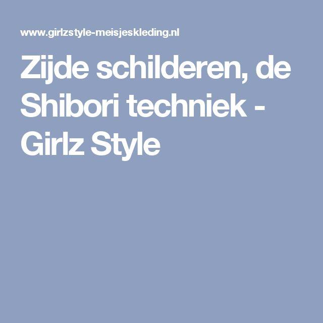 Zijde schilderen, de Shibori techniek - Girlz Style