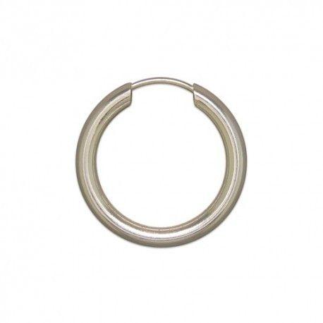 Single Men S Sterling Silver Hoop Earring 18mm Mensfashion Mensjewellery Earrings
