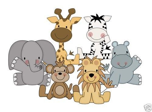 Best Decoracion Images On Pinterest Jungle Animals Animal - Zoo animal wall decals