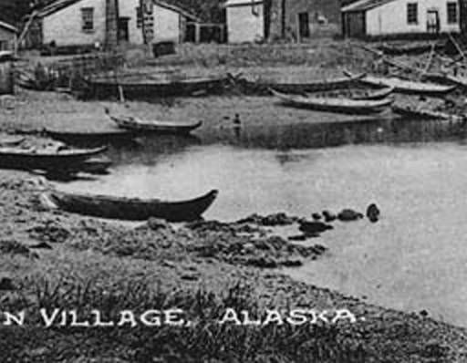 Haida village of Klinkwan, Prince of Wales Island, Alaska, ca. 1897 :: American Indians of the Pacific Northwest -- Image Portion