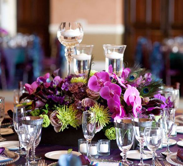17 best images about purple teal on pinterest - Purple and teal centerpieces ...