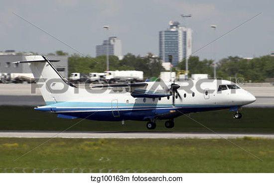Stock Photo of U.S. Air Force Dornier 328 airplane. 100163m -   100163m.jpg