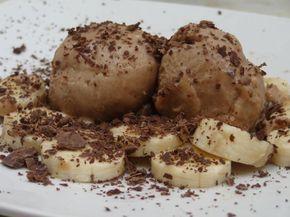 Παγωτό με μπανάνα και μερέντα