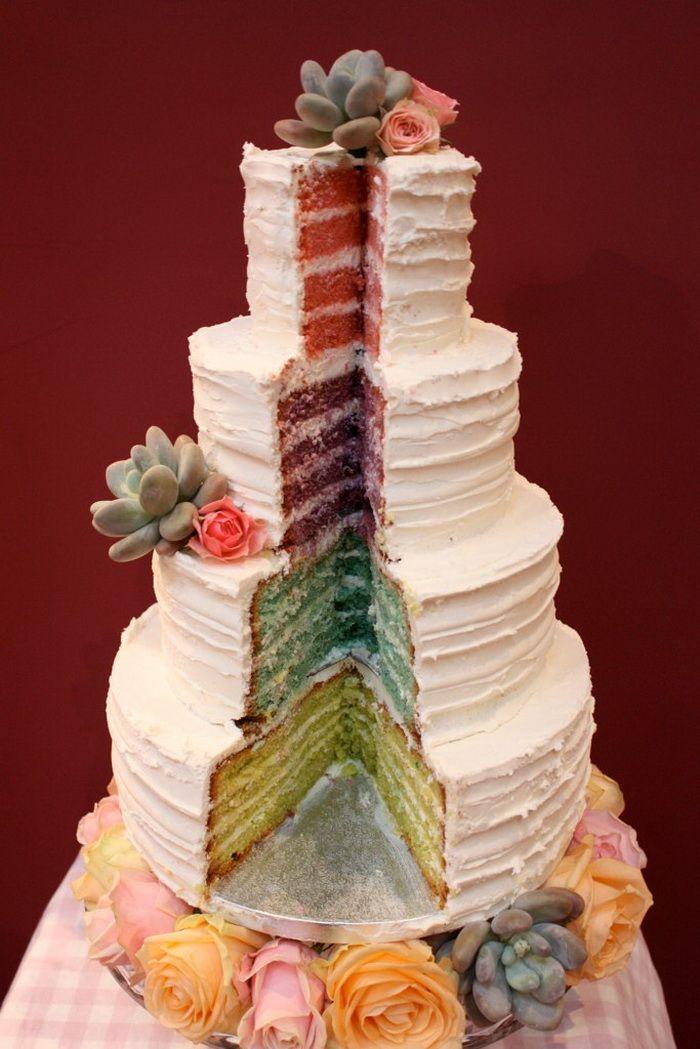 Best Rainbow Wedding Cakes