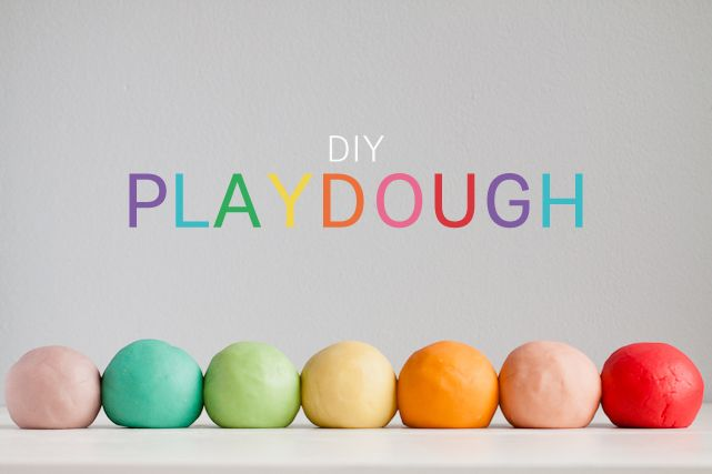 DIY Play Dough using Jell-O for the great colors and smell, plus