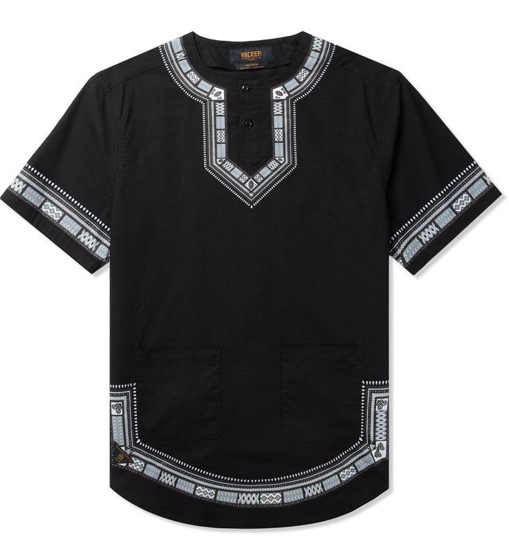 Shop 10.DEEP Black DVSN Dashiki Shirt at HBX. Free Worldwide Shipping available.
