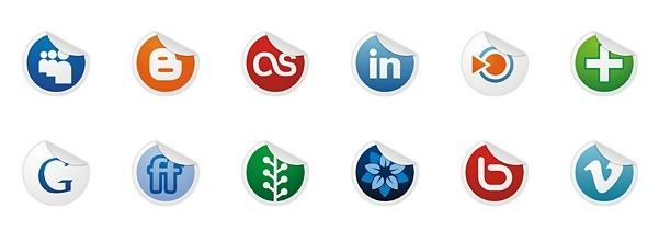 Socialize icons set