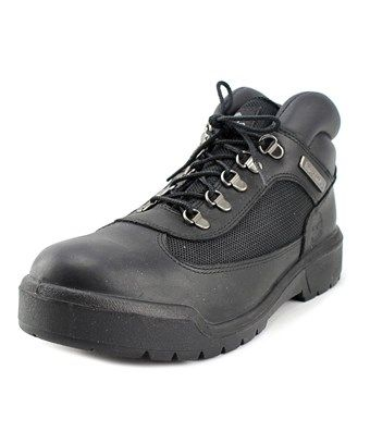 TIMBERLAND TIMBERLAND HOMMES MEN  ROUND TOE LEATHER BLACK COMBAT BOOT. #timberland #shoes #