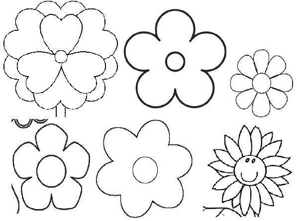 moldes para flores de goma eva - Buscar con Google | Plantillas o ...