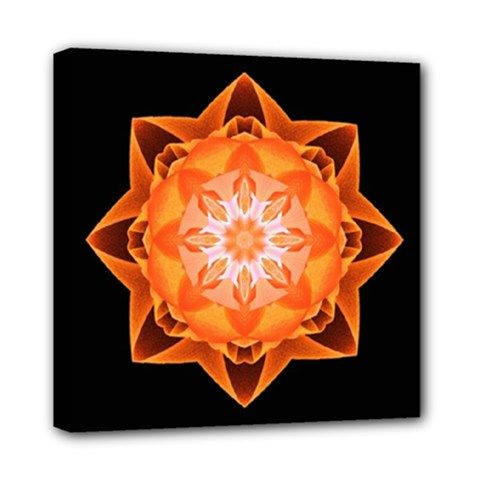Canvas print fractal Stardust orange - also for sale on www.etsy.com/shop/droomcreaties