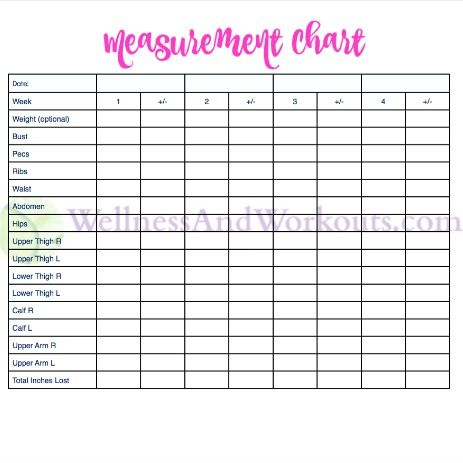 Free Printable Body Measurement Chart | 2016 Board | Body ...