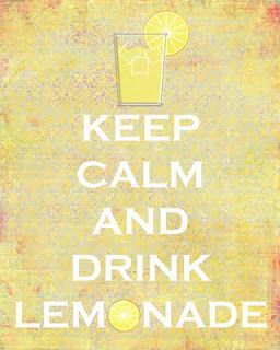 Reminds me of my daughter. Everything is better with lemonade.  : )