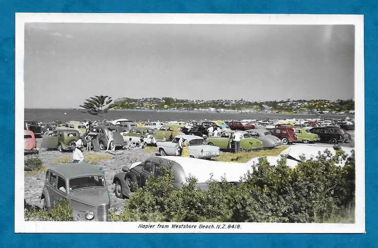 EARLY 1960'S PC NAPIER FROM WESTSHORE BEACH, NEW ZEALAND - LOTS OF VINTAGE CARS! | eBay