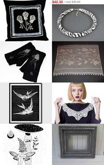 BLACK and WHITE by SHINE JewelleryWithATouchOfMagic on Etsy--Pinned with TreasuryPin.com
