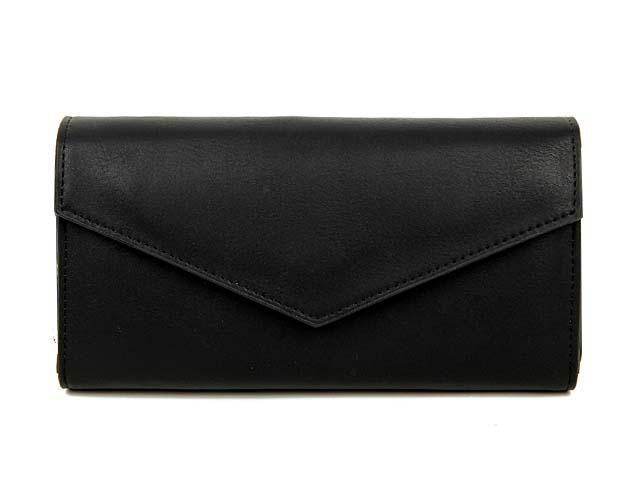 BLACK LEATHER EFFECT MULTI-COMPARTMENT PURSE WITH WRIST STRAP, £8.99 - A-SHU.CO.UK